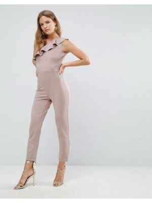 OH MY LOVE One Shoulder Frill Detail Jumpsuit