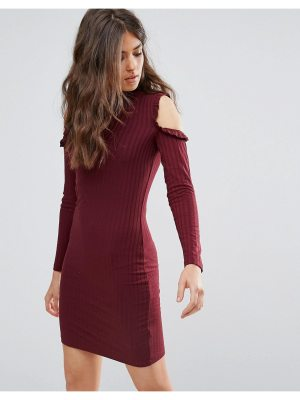 Only Ripsi Cold Shoulder Frill Dress