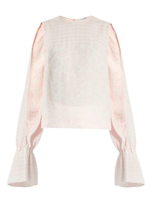 OSMAN petra round neck long sleeved jacquard top