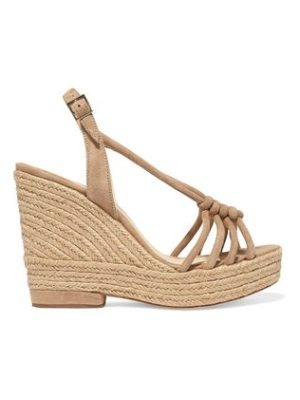 Paloma Barcelo colette knotted suede wedge sandals