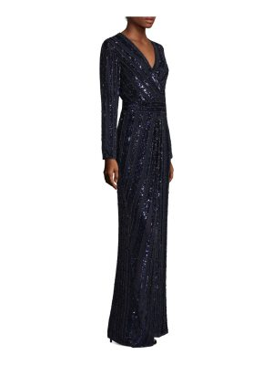 Parker Black joyce beaded sequin gown