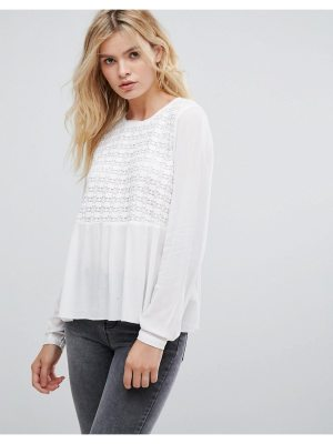 Pepe Jeans Gaynor Embroidered Front Blouse