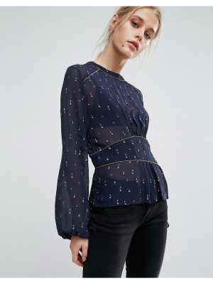 Pepe Jeans Louise Ruched Waist Printed Blouse