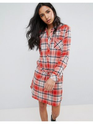 Pepe Jeans Madison Checked Shirt Dress