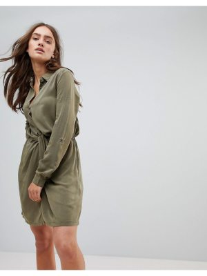 Pepe Jeans Twisted Knot Shirt Dress