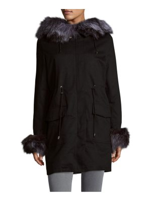 Peri Luxe Fox & Rabbit Fur Parka