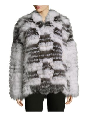 Peri Luxe Shawl Collared Fox Fur Jacket