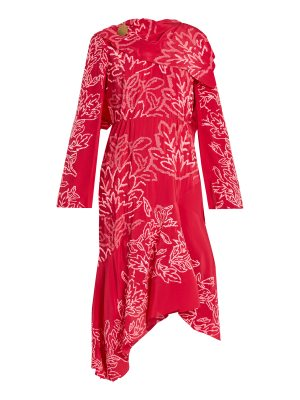 Peter Pilotto floral embroidered silk crepe dress