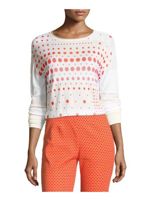 Piazza Sempione Crewneck Long-Sleeve Dot-Print Sweater
