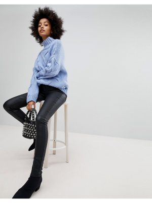 Pieces Coated Skinny Mid Rise Jeans