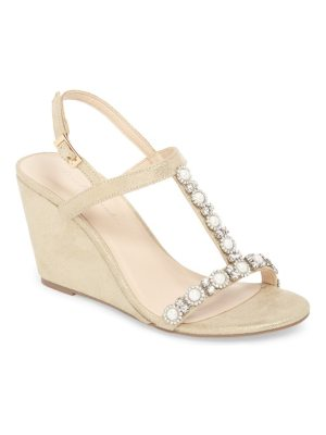 pink paradox London kiana embellished wedge sandal