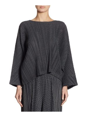 Pleats Please Issey Miyake pleated striped top