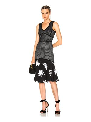 Prabal Gurung Sleeveless Flare Skirt Dress