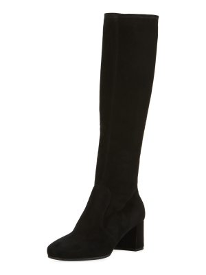 Prada 55mm Stretch Suede to the Knee Boot