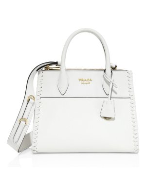 Prada paradigme small whipstich leather satchel