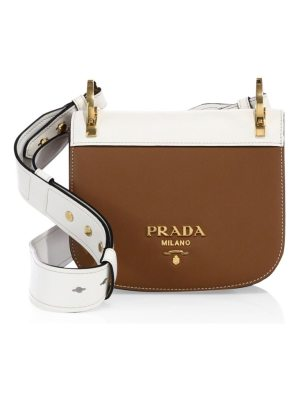 Prada pionniere leather saddle bag