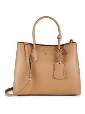 Prada large saffiano leather satchel