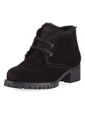 Prada Suede Lace-Up Chukka Bootie