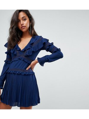 PrettyLittleThing Frill Detail Pleated Dress