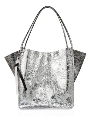 Proenza Schouler crinkled metallic leather tote