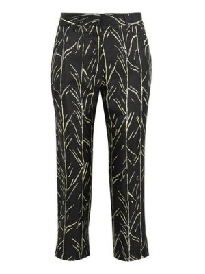 Proenza Schouler cropped printed silk-twill straight