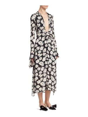 Proenza Schouler floral silk dress