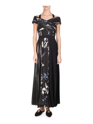 Proenza Schouler Long Pleated Floral-Print Dress