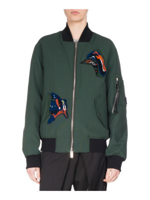 Proenza Schouler Oversized Bomber Jacket with Patches