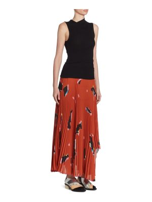 Proenza Schouler pleated asymmetric dress