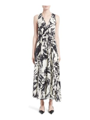 Proenza Schouler print silk georgette maxi dress