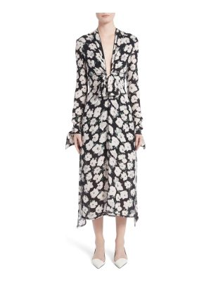 Proenza Schouler print silk midi dress