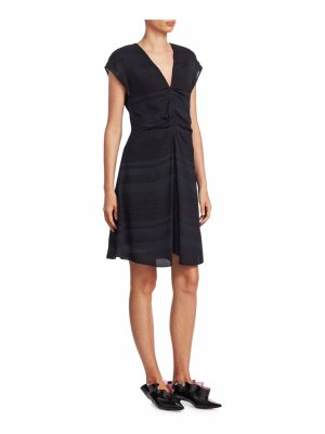 Proenza Schouler ruched cap-sleeve dress