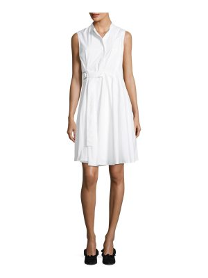 Proenza Schouler Sleeveless Side-Wrap Pleated Poplin Dress