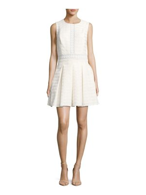 Prose & Poetry Basket Textured Pleated Dress