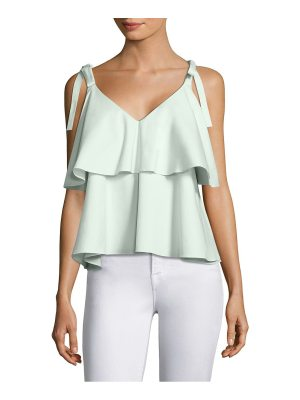 Prose & Poetry brett tiered ruffled cotton top