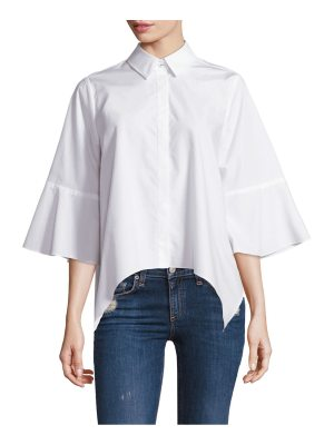 Prose & Poetry handkerchief hem cotton blouse