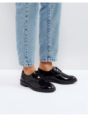 Pull & Bear Patent And Stud Detail Shoe