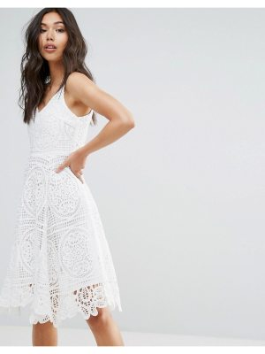 QED London Crochet Skater Dress