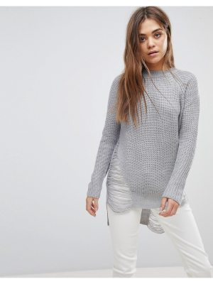 QED London Distressed Sweater