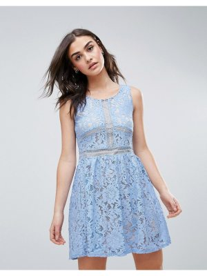 QED London Lace Skater Dress