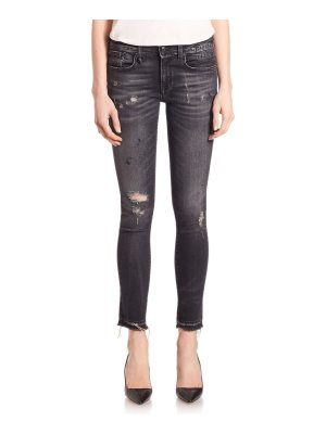 R13 alison distressed cropped jeans