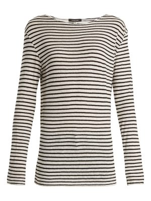 R13 Cotton-jersey striped top