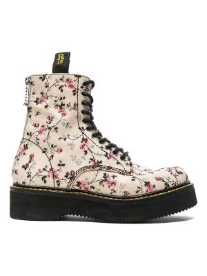 R13 Embroidered Leather Stack Boots
