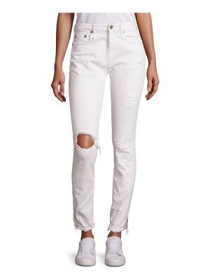 R13 jenny distressed high-rise skinny jeans