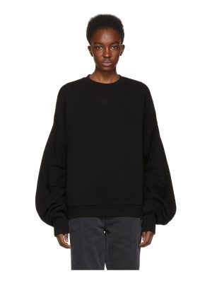 R13 Pleated Sleeve Sweatshirt