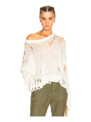 R13 Shredded Side Slit Sweater