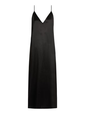 RAEY v neck silk satin midi slip dress