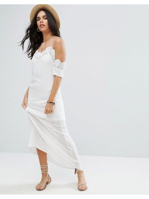Raga Lotus Crochet Trim Maxi Dress