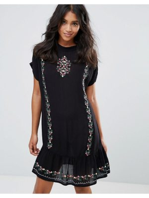 Rage Embroidered Cheese Cloth Dress