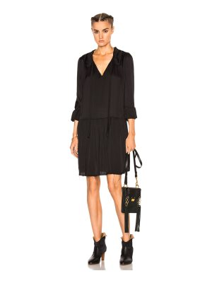 Raquel Allegra Ruffle Neck Dress